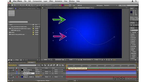 Orienting moving objects along a path: After Effects CS5 Essential Training