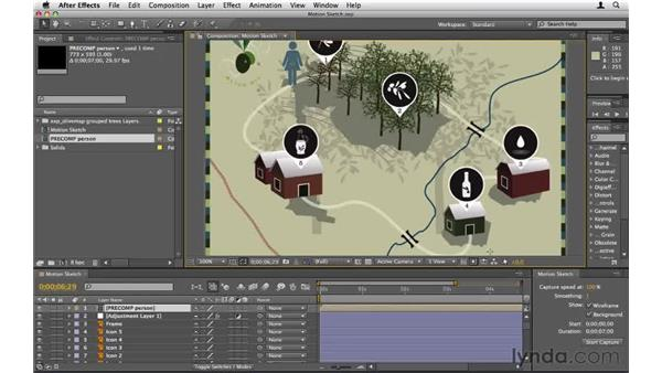 Drawing motion with Motion Sketch: After Effects CS5 Essential Training