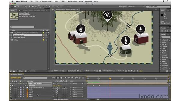 Creating pauses in animation: After Effects CS5 Essential Training