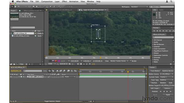 Stabilizing shaky footage: After Effects CS5 Essential Training
