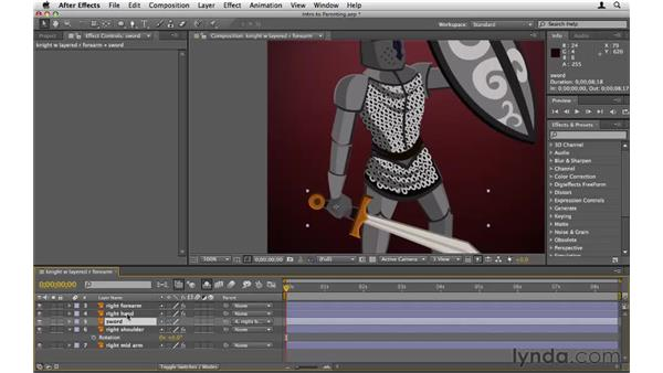 Setting up parent layers: After Effects CS5 Essential Training
