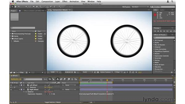 Modifying simple expressions: After Effects CS5 Essential Training