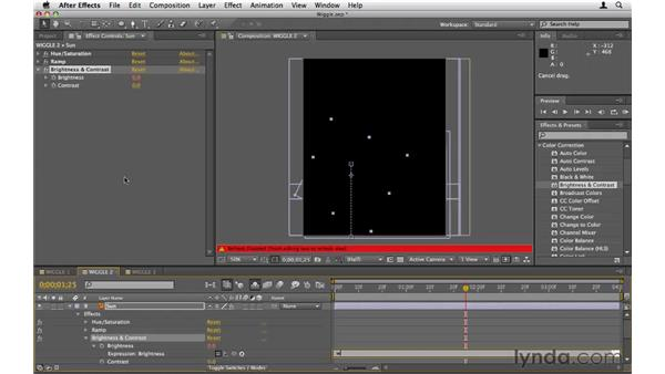 Using the wiggle expression: After Effects CS5 Essential Training