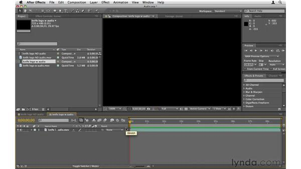 Understanding audio in motion graphics: After Effects CS5 Essential Training