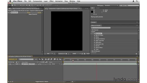 Enhancing audio tracks with effects: After Effects CS5 Essential Training