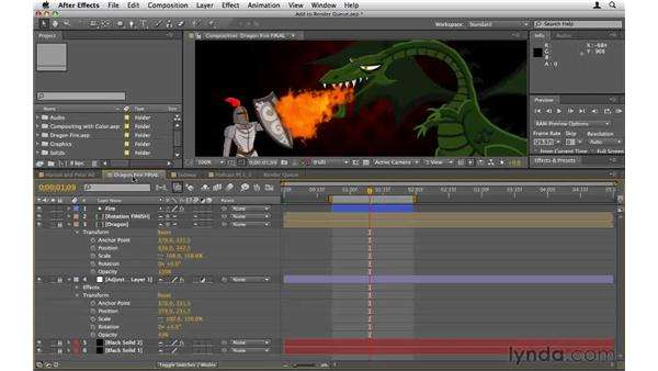 Adding comps to the Render Queue: After Effects CS5 Essential Training