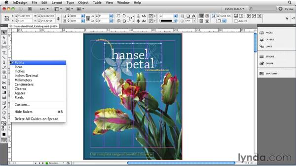 Setting rulers and measurements: InDesign CS5 Essential Training