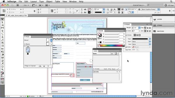 Saving time by making workspaces: InDesign CS5 Essential Training