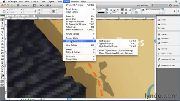 Setting the view quality of artwork: InDesign CS5 Essential Training