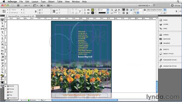 Adjusting View and Preview settings: InDesign CS5 Essential Training