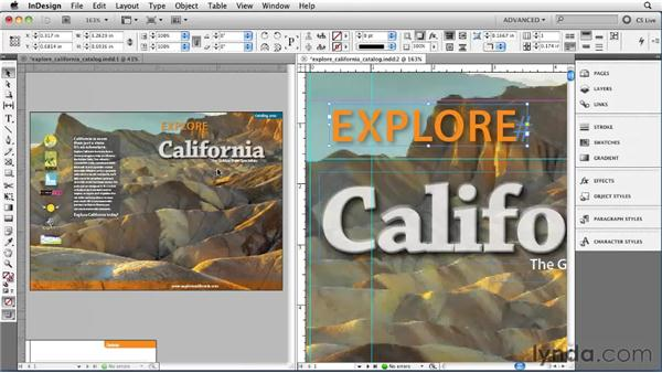 Displaying a new view with the New Window feature: InDesign CS5 Essential Training