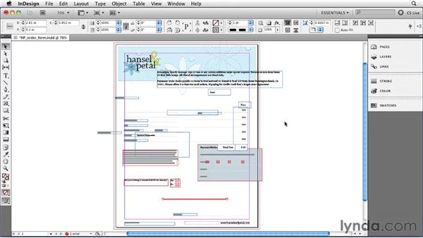 Using multiple Undo and Revert: InDesign CS5 Essential Training
