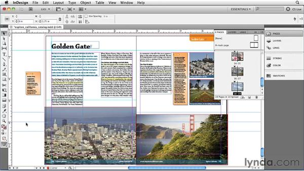 Using ruler guides: InDesign CS5 Essential Training