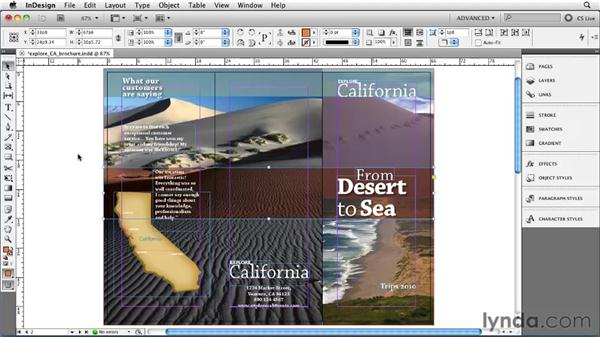 Bleeding colors or images off the side of the page: InDesign CS5 Essential Training