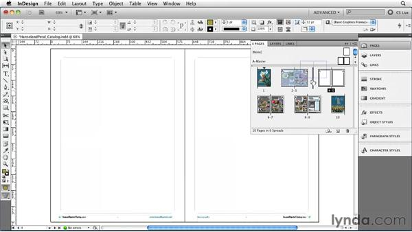 Inserting, deleting, and moving pages: InDesign CS5 Essential Training