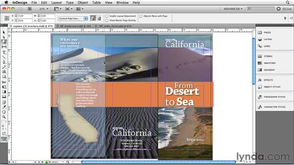 Changing page size: InDesign CS5 Essential Training
