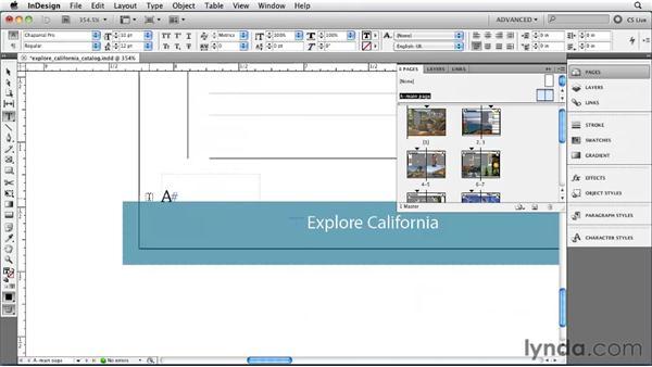 Adding page numbering: InDesign CS5 Essential Training