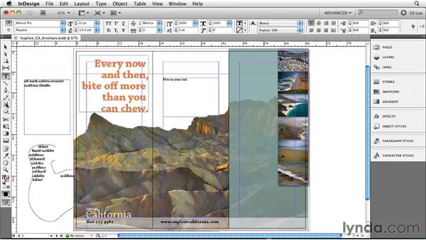 Understanding text frames: InDesign CS5 Essential Training