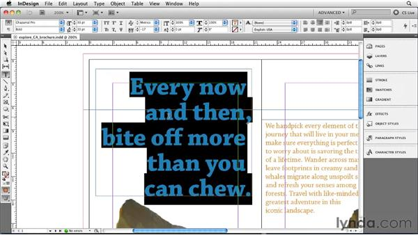 Typing and editing text: InDesign CS5 Essential Training