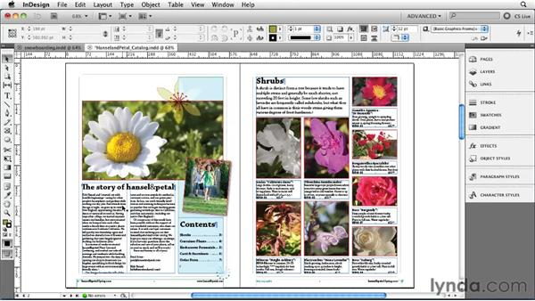 Importing text: InDesign CS5 Essential Training