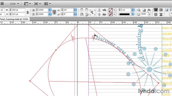 Putting text on a path: InDesign CS5 Essential Training