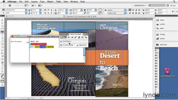 Tracking text changes: InDesign CS5 Essential Training