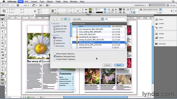 Importing graphics: InDesign CS5 Essential Training