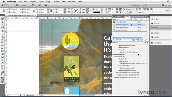 Embedding links: InDesign CS5 Essential Training