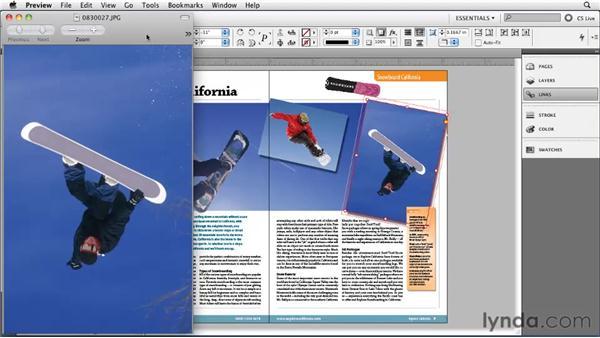 Editing graphics in their original app: InDesign CS5 Essential Training