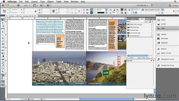 Taking advantage of image transparency and clipping paths: InDesign CS5 Essential Training
