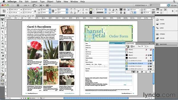 Applying basic strokes and fills: InDesign CS5 Essential Training