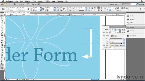 Using advanced strokes: InDesign CS5 Essential Training