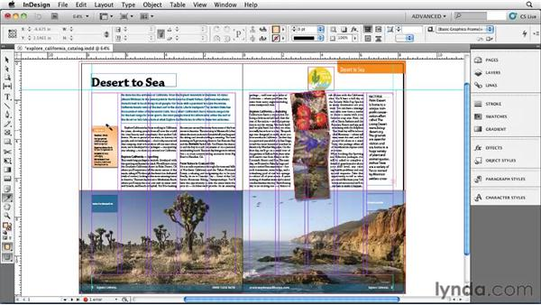 Copying formatting with the Eyedropper tool: InDesign CS5 Essential Training