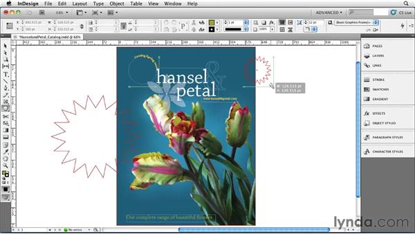 Making polygons and starbursts: InDesign CS5 Essential Training