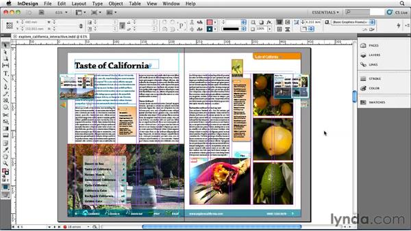Making interactive documents: InDesign CS5 Essential Training