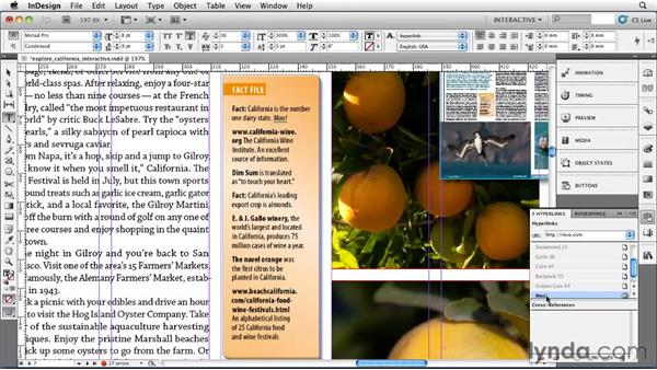 Adding hyperlinks: InDesign CS5 Essential Training
