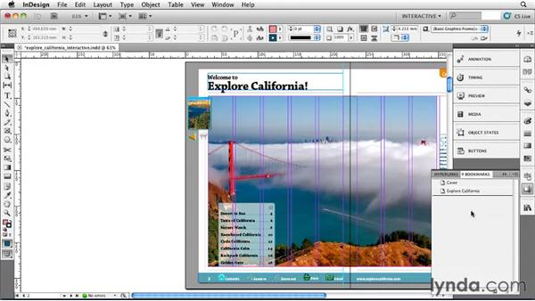 Building bookmarks: InDesign CS5 Essential Training