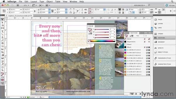 The danger and power of unnamed colors: InDesign CS5 Essential Training