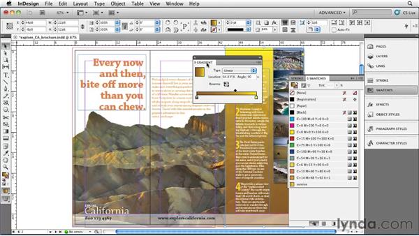 Applying gradients: InDesign CS5 Essential Training