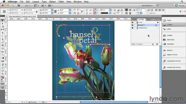 Creating and controlling layers: InDesign CS5 Essential Training
