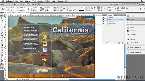 Grouping objects: InDesign CS5 Essential Training