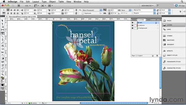 Locking objects: InDesign CS5 Essential Training