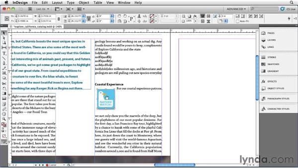 Using anchored objects: InDesign CS5 Essential Training