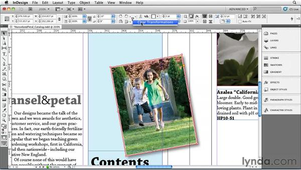 Rotating objects: InDesign CS5 Essential Training