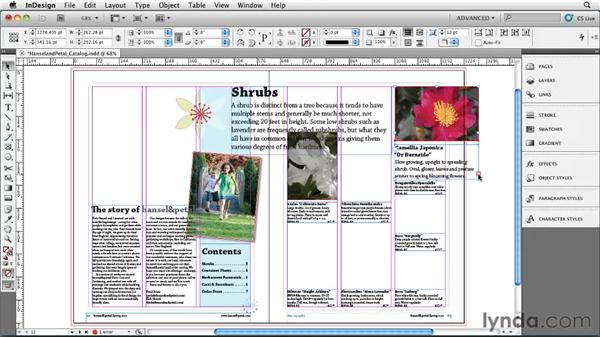 Scaling objects: InDesign CS5 Essential Training