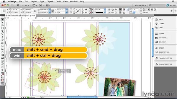Using the Transform Again feature: InDesign CS5 Essential Training