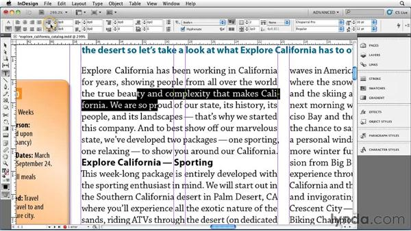 Applying formatting to a paragraph: InDesign CS5 Essential Training