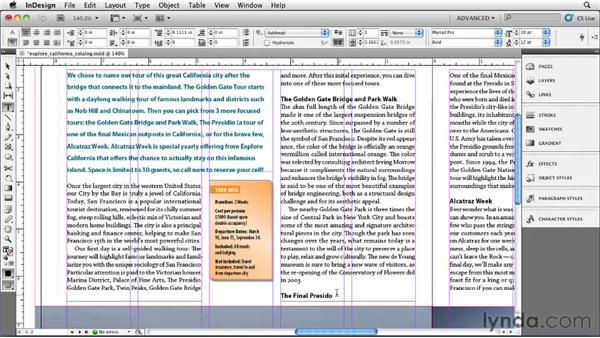 Controlling orphans and widows with Keep Options: InDesign CS5 Essential Training