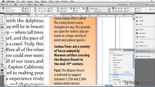 Applying styles automatically with Nested Styles: InDesign CS5 Essential Training