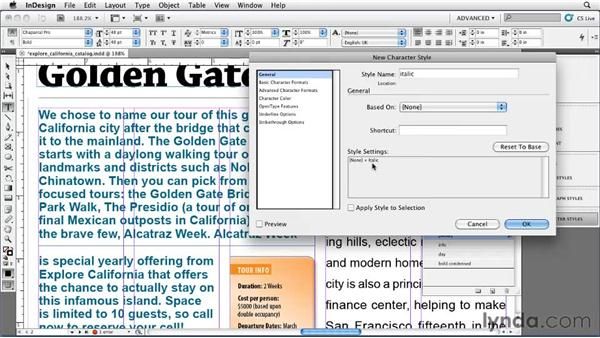 Cleaning up a local formatting mess: InDesign CS5 Essential Training